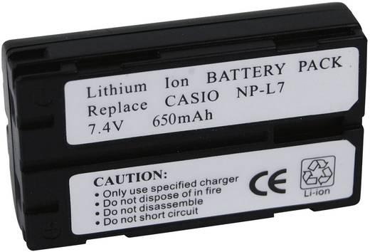 Kamera-Akku Conrad energy ersetzt Original-Akku NP-L7 7.4 V 650 mAh