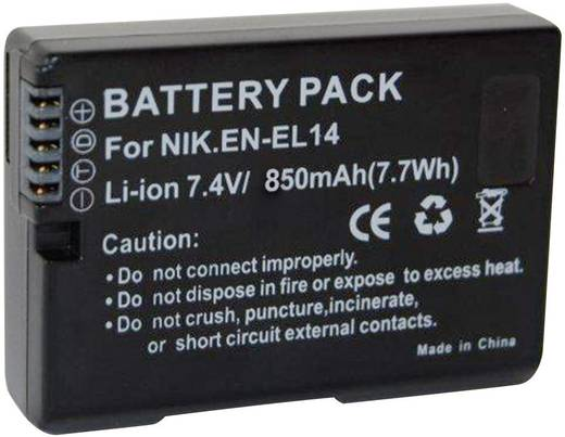Kamera-Akku Conrad energy ersetzt Original-Akku EN-EL14 7.4 V 850 mAh EN-EL14