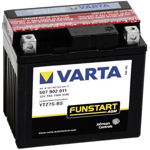 Motorradbatterie Varta YTZ7S-4, YTZ7S-BS 12 V 5 Ah ETN 507902011 Passend für Motorräder, Quads, Jetski, Schneemobile