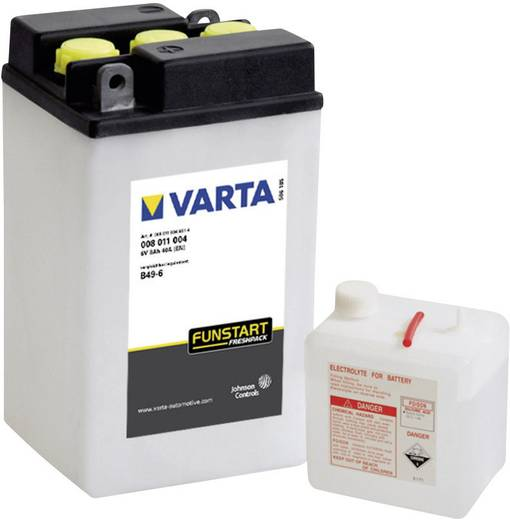 Motorradbatterie Varta B49/6 6 V 8 Ah ETN 008011004 Passend für Motorräder, Motorroller, Quads, Jetski, Schneemobile, Au