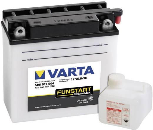 Motorradbatterie Varta 12N5.5-3B 12 V 5.5 Ah ETN 506011004 Passend für Modell Motorräder, Motorroller, Quads, Jetski, Sc
