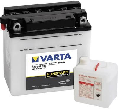 Motorkerékpár akku fűnyíró Quad 12V-os akkumulátor Varta YB7-A 12 V 8 Ah ETN 508013008