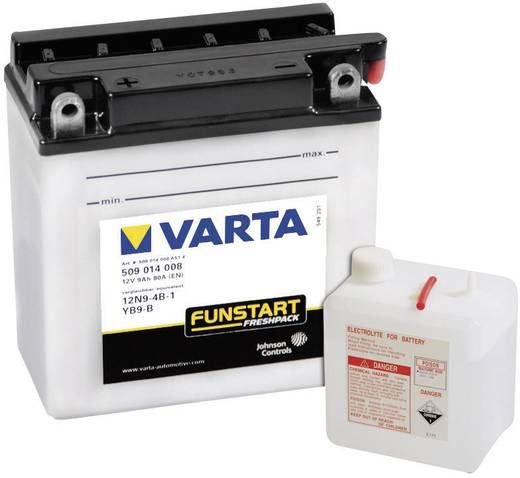 Motorradbatterie Varta 12N9-4B-1, YB9-B 12 V 9 Ah ETN 509014008 Passend für Motorräder, Motorroller, Quads, Jetski, Schn