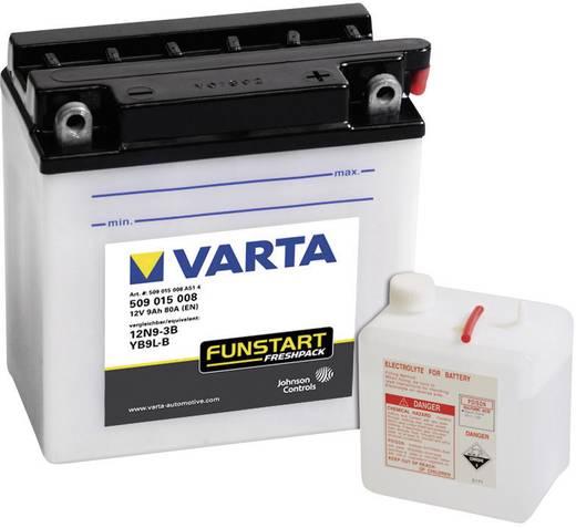 Motorradbatterie Varta 12N9-3B, YB9L-B 12 V 9 Ah ETN 509015008 Passend für Motorräder, Motorroller, Quads, Jetski, Schne
