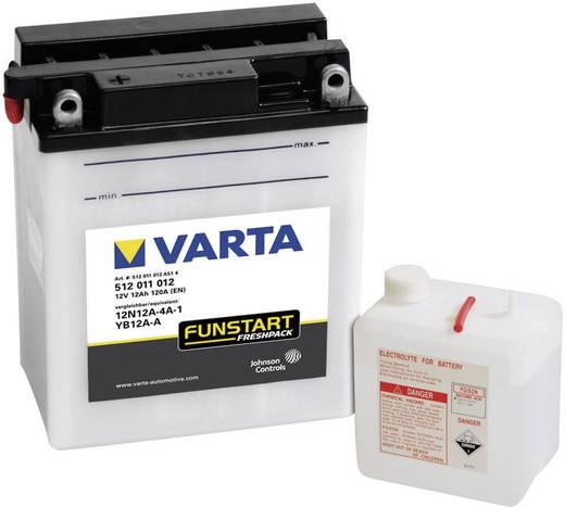 Motorradbatterie Varta 12N12A-4A-1, YB12A-A 12 V 12 Ah ETN 512011012 Passend für Modell Motorräder, Motorroller, Quads,