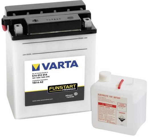 Motorradbatterie Varta YB14-A2 12 V 14 Ah ETN 514012014 Passend für Motorräder, Motorroller, Quads, Jetski, Schneemobile