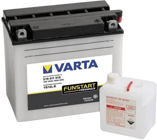 Motorradbatterie Varta YB16L-B 12 V 19 Ah ETN 519011019 Passend für Motorräder, Motorroller, Quads, Jetski, Schneemobile
