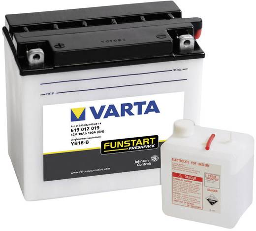 Motorradbatterie Varta YB16-B 12 V 19 Ah ETN 519012019 Passend für Modell Motorräder, Motorroller, Quads, Jetski, Schnee