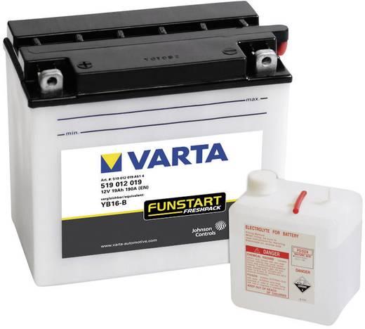 Motorradbatterie Varta YB16-B 12 V 19 Ah ETN 519012019 Passend für Motorräder, Motorroller, Quads, Jetski, Schneemobile,