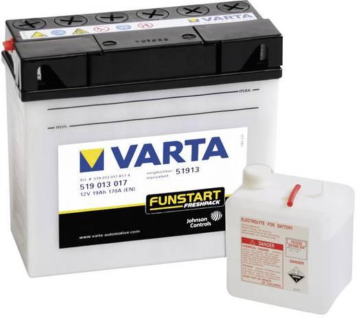 Motorradbatterie Varta 51913 12 V 19 Ah ETN 519013017 Passend für Modell Motorräder, Motorroller, Quads, Jetski, Schneem