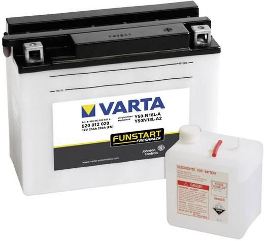 Motorradbatterie Varta Y50-N18L-A, Y50N18L-A2 12 V 20 Ah ETN 520012020 Passend für Modell Motorräder, Motorroller, Quads