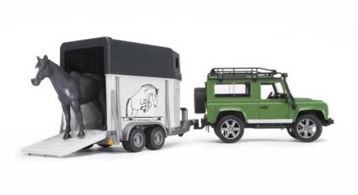 Bruder Land Rover Defender +Anhänger +Pferd
