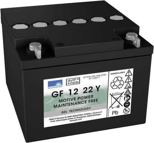 Bleiakku 12 V 22 Ah GNB Sonnenschein GF 12 022 Y C Blei-Gel (B x H x T) 167 x 126 x 176 mm M5-Schraubanschluss Wartungsf