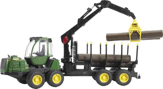 Bruder John Deere 1210E Rückezug mit 4 Baumstämmen und Holzgreifer