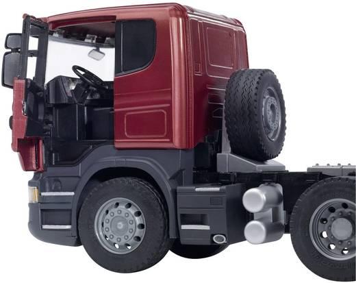 Bruder Scania R-Serie LKW mit Tieflader und CAT Bulldozer 3555
