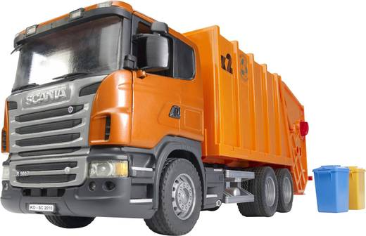 Bruder Scania R-Serie Müll-LKW orange