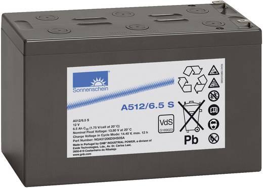 Bleiakku 12 V 6.5 Ah GNB Sonnenschein A512/6,5 S NGA51206D5HS0SA Blei-Gel (B x H x T) 152 x 99 x 66 mm Flachstecker 4.8 mm Wartungsfrei, VDS-Zertifizierung