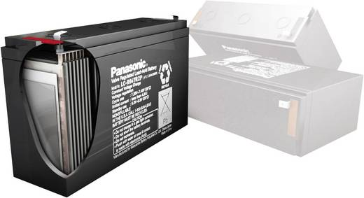 Bleiakku 12 V 38 Ah Panasonic 12 V 38 Ah LC-XC1238P Blei-Vlies (AGM) (B x H x T) 197 x 175 x 165 mm M6-Schraubanschluss