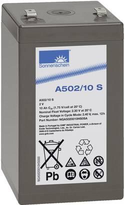 Batterie au plomb 2 V 10 Ah GNB Sonnenschein A502/10 S plomb-gel (l x h x p) 53 x 99 x 51 mm connecteur plat 4,8 mm sans