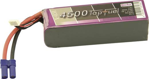 Modellbau-Akkupack (LiPo) 14.8 V 4500 mAh Zellen-Zahl: 4 20 C Hacker EC5