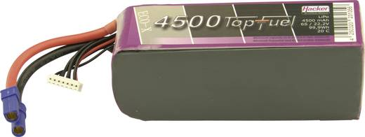 Modellbau-Akkupack (LiPo) 22.2 V 4500 mAh Zellen-Zahl: 6 20 C Hacker EC5