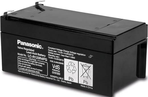 Bleiakku 12 V 3.4 Ah Panasonic 12 V 3,4 Ah LC-R123R4PG Blei-Vlies (AGM) (B x H x T) 134 x 60 x 67 mm Flachstecker 4.8 mm Wartungsfrei, VDS-Zertifizierung