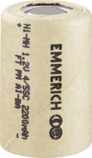 Spezial-Akku 4/5 Sub-C Flat-Top NiMH Emmerich 4/5 SUB C 1.2 V 2200 mAh