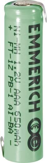 Spezial-Akku Micro (AAA) Z-Lötfahne NiMH Emmerich Micro ZLF 1.2 V 650 mAh