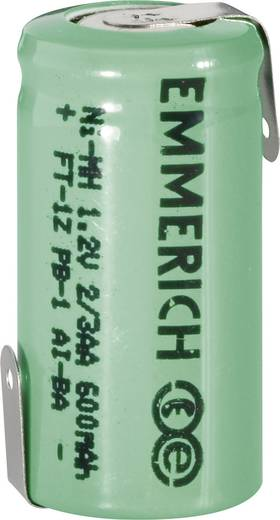 Emmerich 2/3 Mignon ZLF Spezial-Akku 2/3 AA Z-Lötfahne NiMH 1.2 V 600 mAh