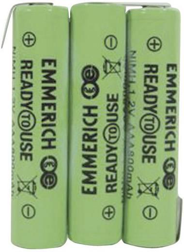 Akkupack 3 Micro (AAA) Z-Lötfahne NiMH Emmerich ReadyToUse 3AAA-ZLF 3.6 V 800 mAh