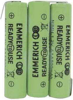 Akupack - sada nabíjacích batérií NiMH 3 micro (AAA) Emmerich ReadyToUse 3AAA-ZLF 255062, 800 mAh, 3.6 V