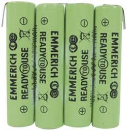 Akupack - sada nabíjacích batérií NiMH 4 micro (AAA) Emmerich ReadyToUse 4AAA-ZLF 255063, 800 mAh, 4.8 V