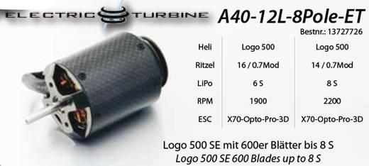 Flugmodell Brushless Elektromotor A40-12L 8-Pole ElectricTurbine Hacker kV (U/min pro Volt): 930 Windungen (Turns): 12