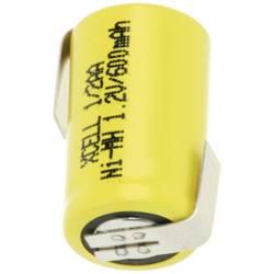 Akumulátor s pájecími kontakty Xcell 1/2 AA, 1,2 V, 600 mAh