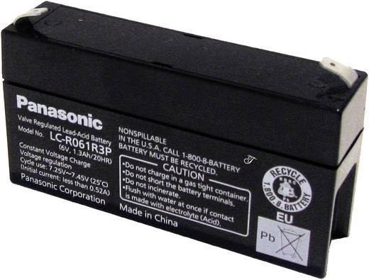 Bleiakku 6 V 1.3 Ah Panasonic 6 V 1,3 Ah LC-R061R3P Blei-Vlies (AGM) (B x H x T) 97 x 50 x 24 mm Flachstecker 4.8 mm War