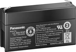 Olovený akumulátor Panasonic 6 V 1,3 Ah LC-R061R3P, 1.3 Ah, 6 V