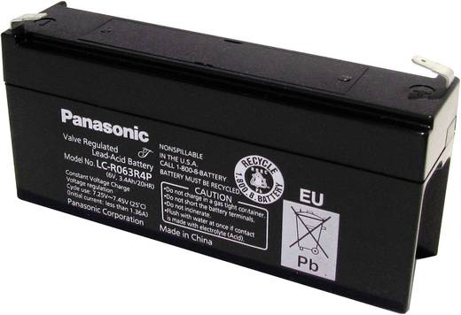 Panasonic 6 V 3,4 Ah LC-R063R4P Bleiakku 6 V 3.4 Ah Blei-Vlies (AGM) (B x H x T) 134 x 60 x 34 mm Flachstecker 4.8 mm Wa