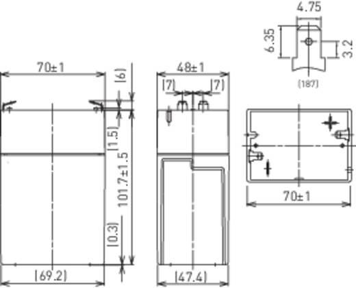 Bleiakku 6 V 4.5 Ah Panasonic 6 V 4,5 Ah LC-R064R5P Blei-Vlies (AGM) (B x H x T) 70 x 102 x 48 mm Flachstecker 4.8 mm Wartungsfrei