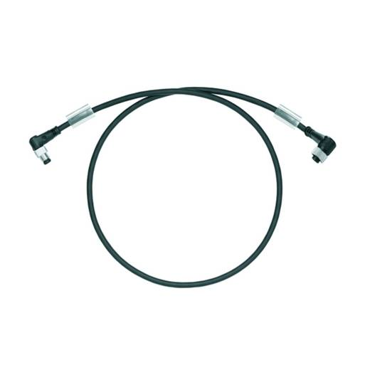 Sensor-/Aktor-Steckverbinder, konfektioniert M12 Stecker, gewinkelt, Buchse, gewinkelt 5 m Polzahl: 3 Weidmüller 1938250