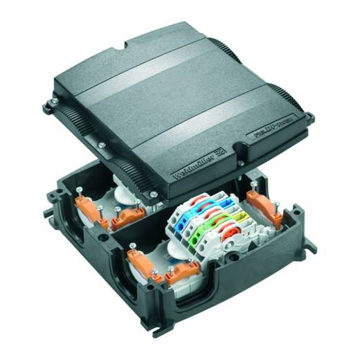 Verteiler-Box flexibel: 0.5-6 mm² starr: 0.5-6 mm² Weidmüller FP BOX 10P 1 St. Schwarz