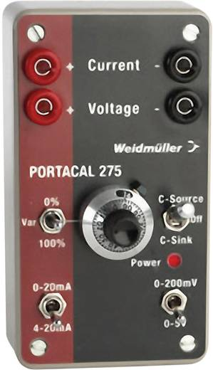 Weidmüller P275 Kalibrator Spannung, Strom 2x 9 V Block-Batterie (enthalten) Kalibriert nach Werksstandard (ohne Zertifi