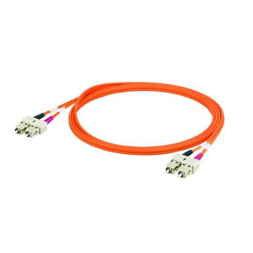 Weidmüller Glasfaser LWL Anschlusskabel [1x SC-Stecker - 1x SC-Stecker] 50/125 µ Multimode OM2 3 m