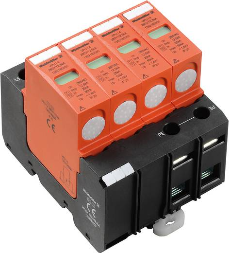 Überspannungsschutz-Ableiter Überspannungsschutz für: Verteilerschrank Weidmüller VPU I 4 280V/12,5kA 1352180000 20 kA