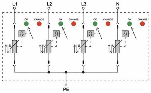 Weidmüller PU II 4 280V/40KA 1352680000 Überspannungsschutz-Ableiter Überspannungsschutz für: Verteilerschrank 20 kA