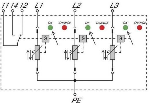Überspannungsschutz-Ableiter Überspannungsschutz für: Verteilerschrank Weidmüller VPU II 3 R LCF 280V/40kA 1352720000 2