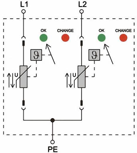 Weidmüller VPU II 2 280V/40kA 1352600000 Überspannungsschutz-Ableiter Überspannungsschutz für: Verteilerschrank 20 kA
