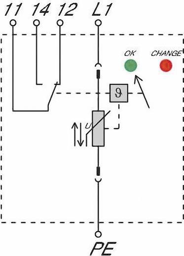 Überspannungsschutz-Ableiter Überspannungsschutz für: Verteilerschrank Weidmüller VPU II 1R 280V/40 kA 1352590000 20 kA
