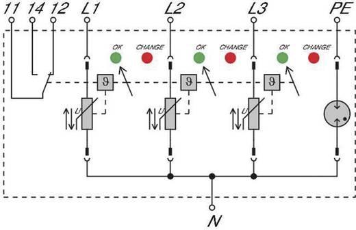 Überspannungsschutz-Ableiter Überspannungsschutz für: Verteilerschrank Weidmüller VPU II 3+1 R 280V/40kA 1352670000 20 kA