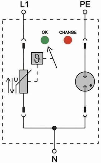 Überspannungsschutz-Ableiter Überspannungsschutz für: Verteilerschrank Weidmüller VPU II 1+1 280V/40kA 1352630000 20 kA