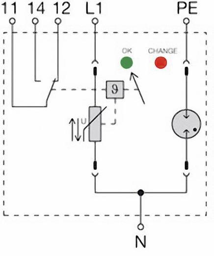 Überspannungsschutz-Ableiter Überspannungsschutz für: Verteilerschrank Weidmüller VPU II 1+1 R 280V/40kA 1352640000 20 kA